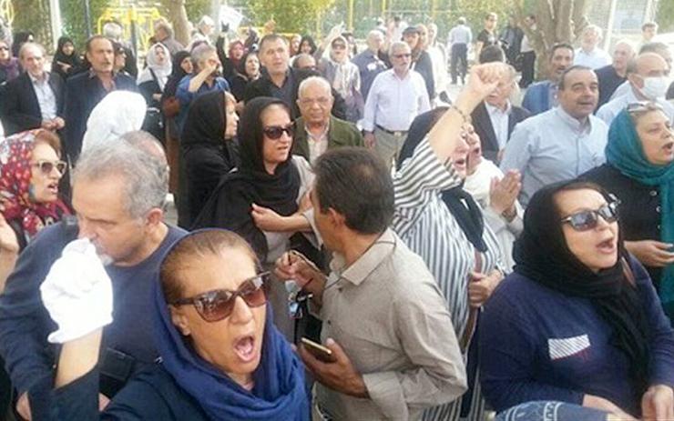 אחת מ־177 ההפגנות שהתקיימו באוגוסט באיראן בשל המצב הכלכלי החמור, צילום מסך: ncr-iran.org