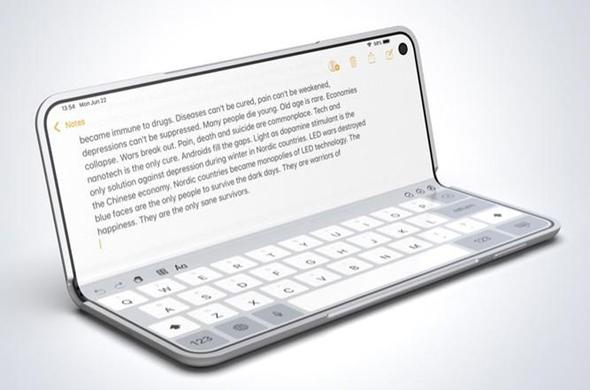 עיצובי קונספט אפל אייפון סמארטפון היברידי מתקפל, צילום: FOLDABLE.NEWS