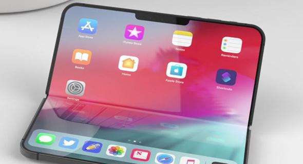 עיצובי קונספט אפל אייפון סמארטפון היברידי מתקפל, צילום: EVERYTHINGAPPLEPRO