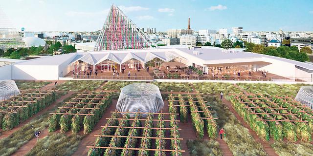 על גגות פריז מוקמת החווה האורבנית הגדולה בעולם