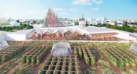הדמיית החווה על גגות פריז, צילום: Valode end Pistre Architectes Atlav AJN