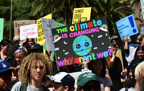 מפגינים בלוס אנג