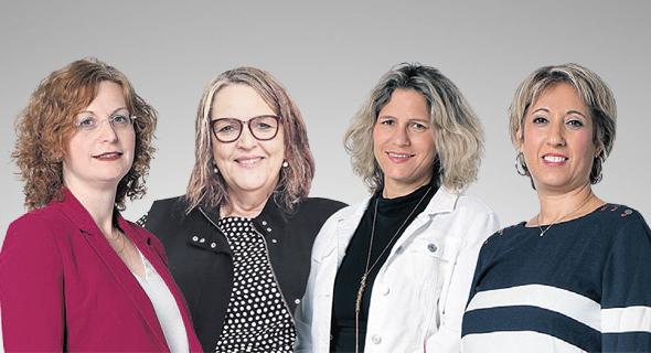 מימין: רוזנברג, קורח, אלינר ואנגל. ב-2019: נשים נטשו תפקידים בכירים בשוק ההון, אבל איישו עמדות מפתח במערכת הבריאות