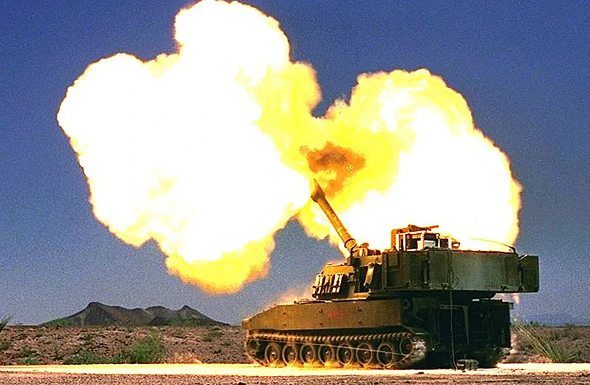 תותח ארטילרי M109 בפעולה, צילום: (FAS (CC-BY-SA