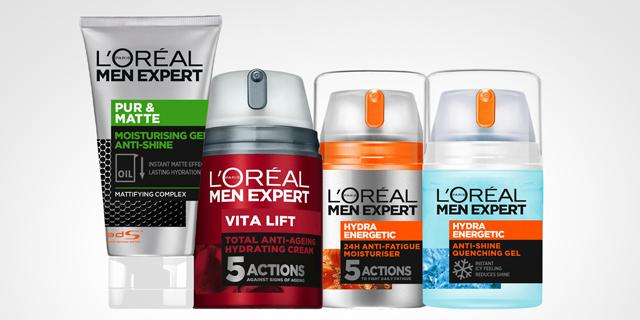 לוריאל תשווק בישראל מוצרי טיפוח לגבר