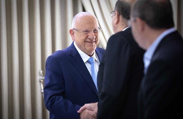 הנשיא ריבלין בפגישה עם כחול לבן, היום