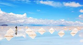 פוטו משטחי מלח בוליביה Salar de Uyuni, צילום: שאטרסטוק