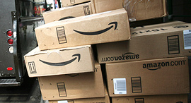 Amazon packages. Photo: AP