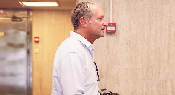 בירנבאום מגיע לחקירה, צילום: אוראל כהן