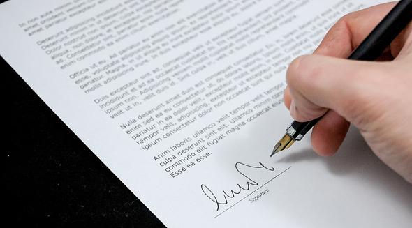 חתימה על חוזה, ארכיון
