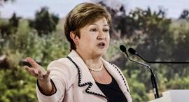 """יו""""ר קרן המטבע הבינלאומית כריסטלינה ג'ורג'ייבה, צילום: בלומברג"""