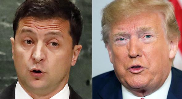 משמאל ולדימיר זלנסקי ו דונלד טראמפ, צילומים: בלומברג, איי פי