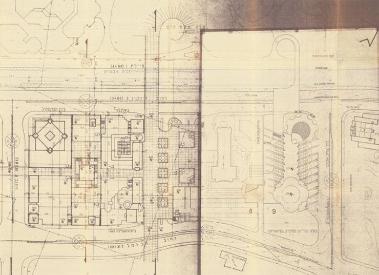 """התוכנית להקמת בית הטקסטיל ומלון דן פנורמה, צילום: מתוך תיק בניין עיריית ת""""א"""