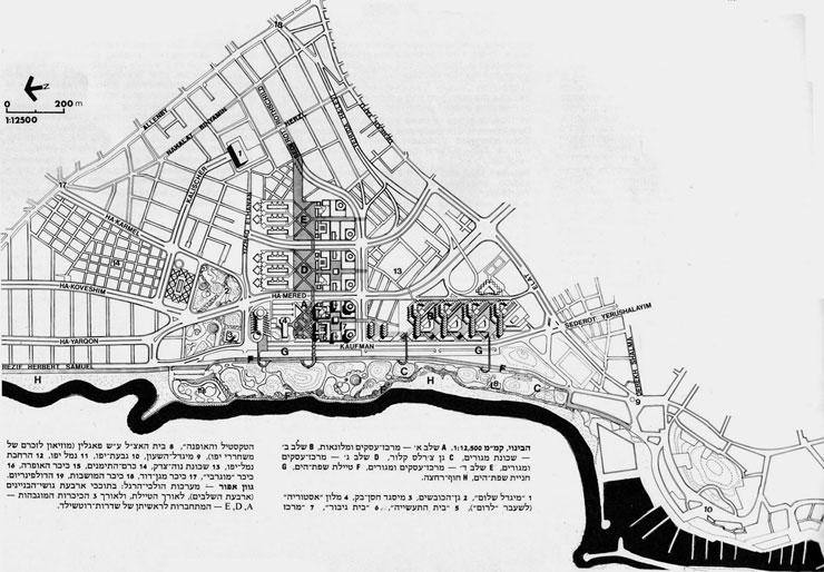 """תוכנית האב להקמת מתחם עסקים על שכונת נוה צדק, צילום: מתוך תיק בניין עיריית ת""""א"""