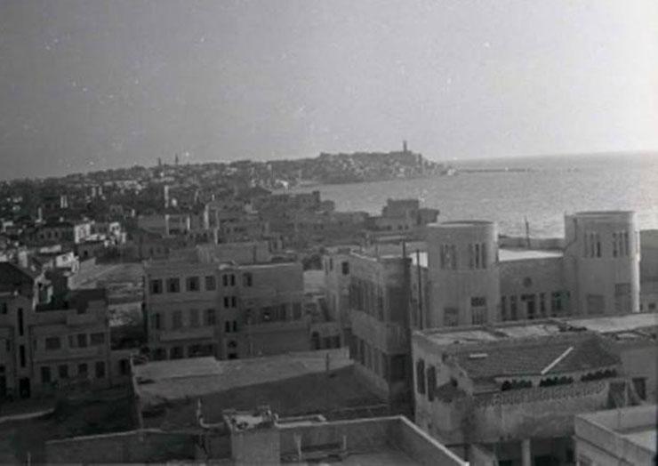 מבט ממסגד חסן בק על שכונת מנשייה בשנות ה-30