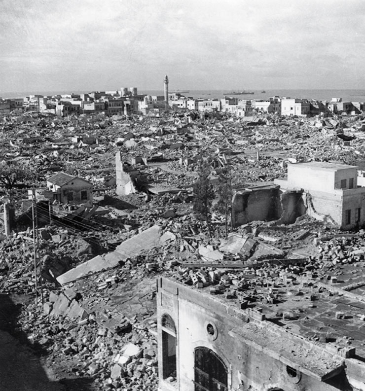 שכונת מנשייה החרבה לאחר קום המדינה