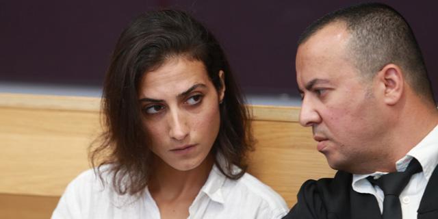 """איילה כהן עם עו""""ד אייל לביא, צילום: אוראל כהן"""