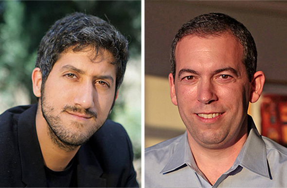 Taboola CEO Adam Singolda (left) and Outbrain co-CEO Yaron Galai. Photo: Orel Cohen