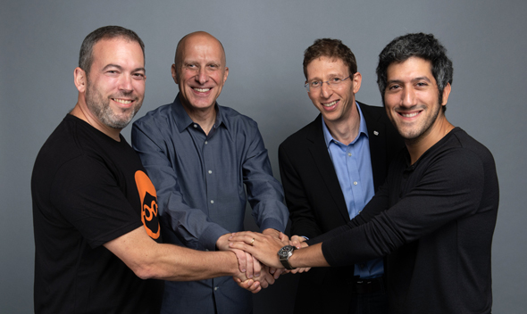 The co-founders of Outbrain and Taboola. Photo: Noam Galai