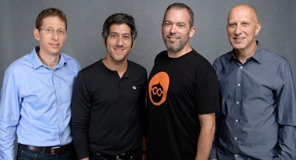 מימין: דיוויד קוסטמן, ירון גלאי, אדם סינגולדה ואלדד מניב