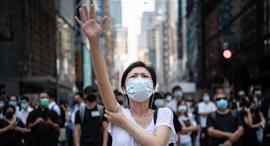 הונג קונג הפגנה מפגין, צילום: גטי