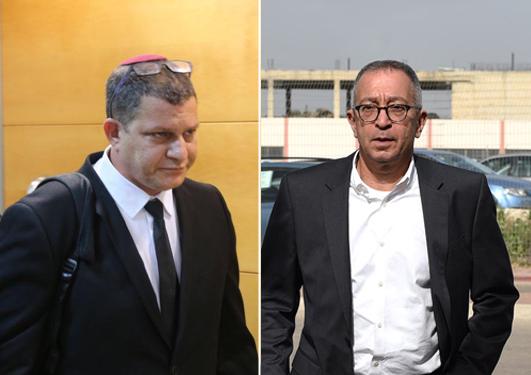 """משמאל עו""""ד מאיר ארנפלד ועו""""ד בועז בן צור , צילום: יובל חן"""