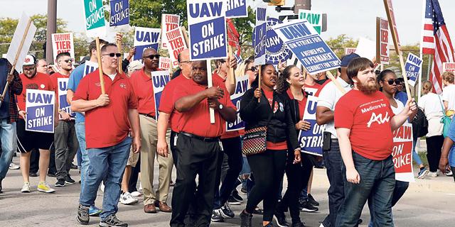 """איגודי העובדים בארה""""ב עושים קאמבק"""