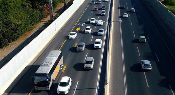הנתיב החדש בכביש חוף, צילום: ynet
