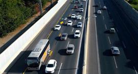 נתיב תחבורה ציבורית שיתופית כביש החוף נתיב פלוס, צילום: ynet