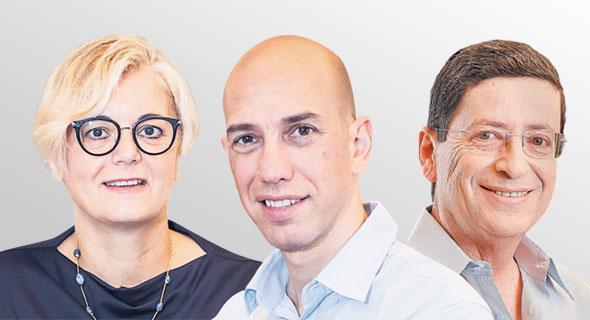 מימין: מורי ארקין, המשקיע בקרנות של אקסלמד והמנהלים השותפים בקרן חדשה אמיר בלאט ואירית יניב