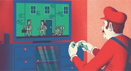 ציור איור יונתן פופר משחק משחקים גיימינג  משחקי וידיאו משחקי וידאו, איור: יונתן פופר