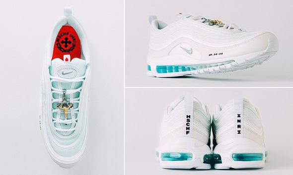 נעלי ישו נייקי MSCHF 4, צילום: MSCHF Nike