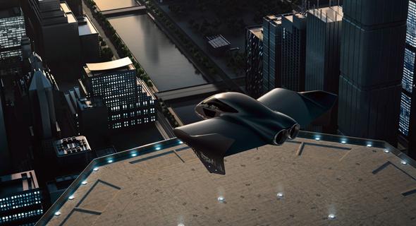 הדמיה שך מטוס עתידני