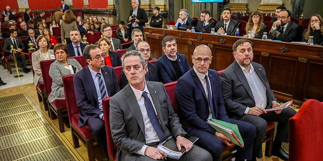 ספרד: עונשי מאסר של תשע עד 13 שנה לתשעה בדלנים קטלאנים