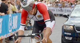 נאזיר ג'אסר מנבחרת סוריה ב אופניים פנאי, צילום: איי פי
