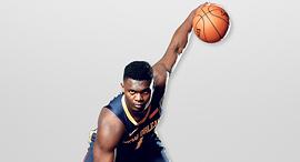 """זאיון וויליאמסון. כבר בכיתה י""""ב היו לו יותר עוקבים באינסטגרם מכמעט כל שחקני ה־NBA, צילום: איי אף פי"""