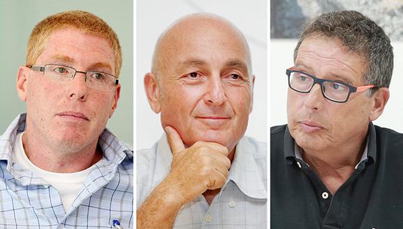 מימין: יהודה בר און, יעקב לוקסנבורג ורונן גינזבורג, צילומים: אוראל כהן
