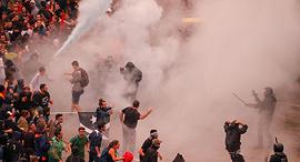 מהומות ב שדה התעופה ב ברצלונה ספרד 3, צילום: איי אף פי