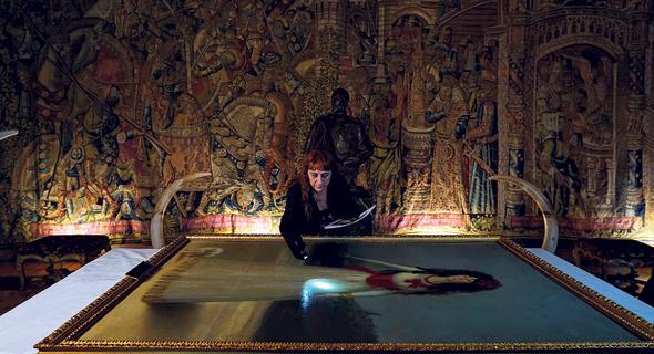 עבודות שימור על ציור של גויה בארמון