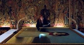 עבודות שימור על ציור של גויה בארמון ליריה, צילום: Juan Medina
