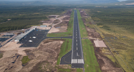נמל תעופה בלי מגדל פיקוח שבדיה, צילום: Scandinavian Mountains Airport