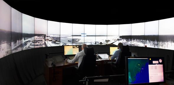 מרכז הבקרה המרוחק, בו מגדל פיקוח וירטואלי, צילום: Scandinavian Mountains Airport
