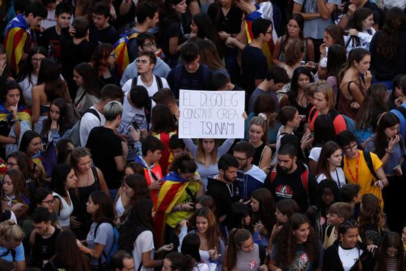 אלפים ברחובות ברצלונה, צילום: רויטרס