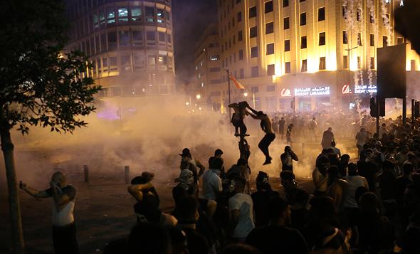 ההפגנות בלבנון בימים האחרונים, צילום: אי פי איי