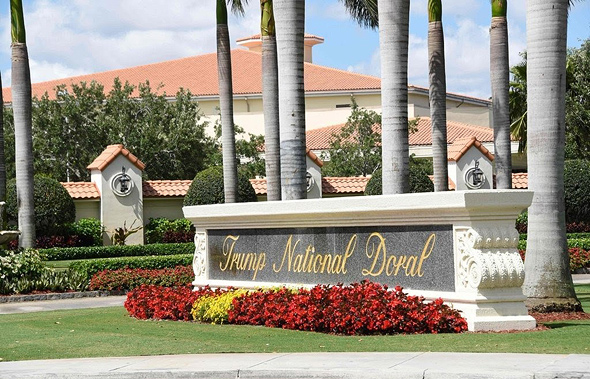אתר הגולף דוראל של טראמפ במיאמי, צילום: איי אף פי