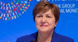 """יו""""ר קרן המטבע הבינלאומית כריסטינה ג'יאורג'ליבה , צילום: אי פי איי"""