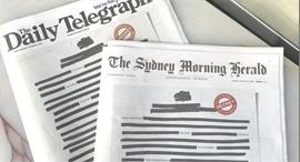 עיתונים אוסטרליה מחאה 2, צילום: Twitter, Michael Miller