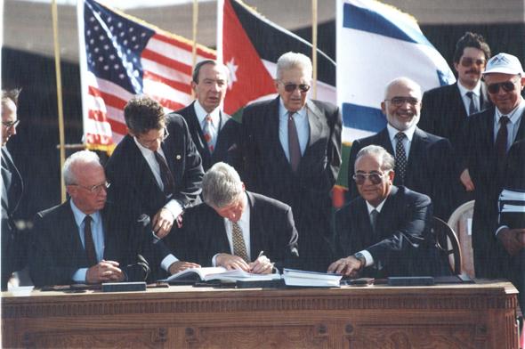 החתימה על הסכם השלום בין ישראל לירדן, 26 באוקטובר 1994