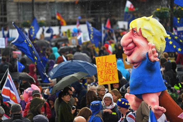 הפגנות נגד הברקזיט, בסוף השבוע בלונדון. דיונים ערים בבריסל, צילום: אמ.סי.טי