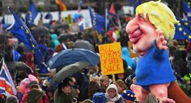 הפגנות נגד הברקזיט בסוף השבוע ב לונדון, צילום: אמ.סי.טי